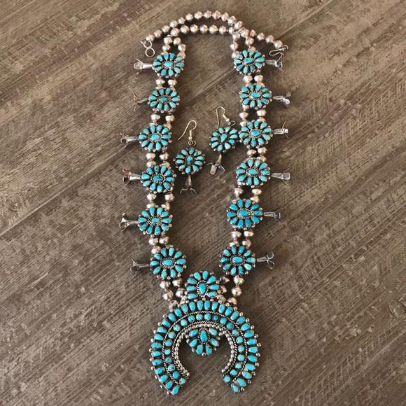 935f78841 Old Pawn Navajo S.S. Squash Blossom Necklace. M_5b4e610ba31c3369d13743c1